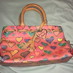 Dooney and Bourke scribble hearts purse